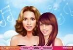 Madonna ve kızı makyaj